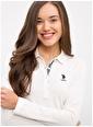 U.S. Polo Assn. U.S. Polo Assn. Polo Yaka Ekru Sweatshirt Ekru
